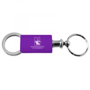 Northwestern University Wildcats Laser Engraved Anodized Purple Valet Keychain with N-Cat & Northwestern University Design