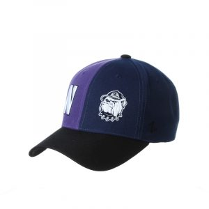 Northwestern University Wildcats House Divided Hat with Georgetown Hoyas