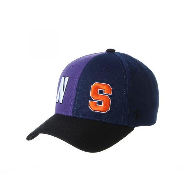 Northwestern University Wildcats House Divided Hat with Syracuse Orange