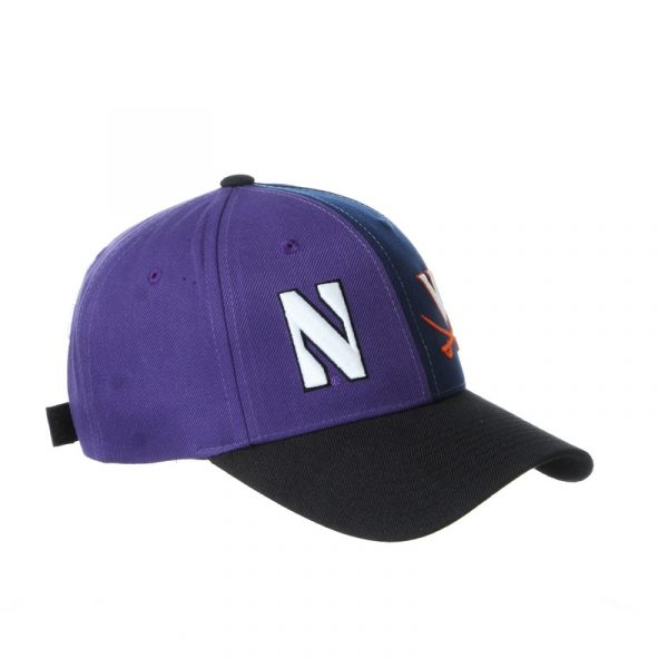 Northwestern University Wildcats House Divided Hat with Virginia Cavaliers-30 Right
