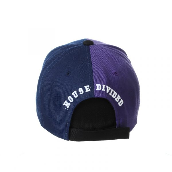 Northwestern University Wildcats House Divided Hat with Virginia Cavaliers-Back