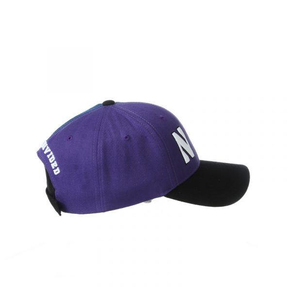 Northwestern University Wildcats House Divided Hat with Virginia Cavaliers-Right