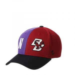 Northwestern University Wildcats House Divided Hat with Boston College Eagles
