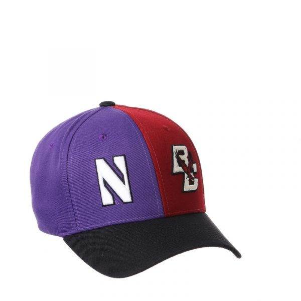 Northwestern University Wildcats House Divided Hat with Boston College Eagles-2