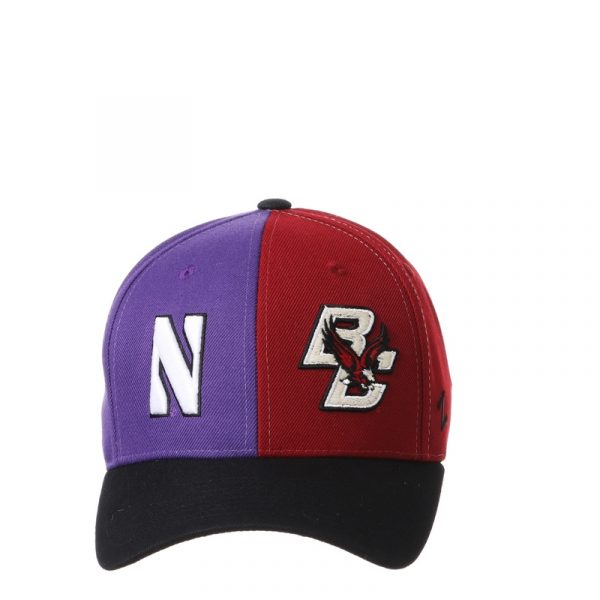 Northwestern University Wildcats House Divided Hat with Boston College Eagles-5