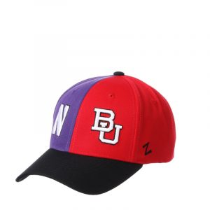 Northwestern University Wildcats House Divided Hat with Boston University Terriers