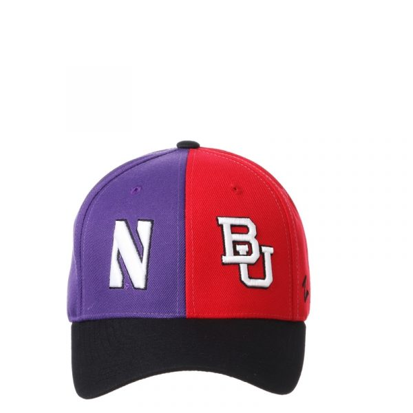Northwestern University Wildcats House Divided Hat with Boston University Terriers-5