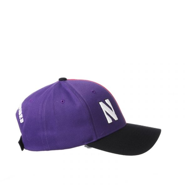 Northwestern University Wildcats House Divided Hat with Boston University Terriers-7