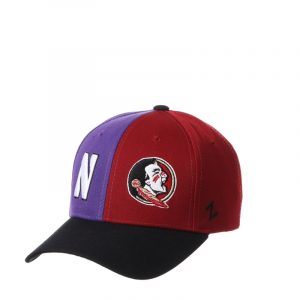 Northwestern University Wildcats House Divided Hat with Florida State Seminoles