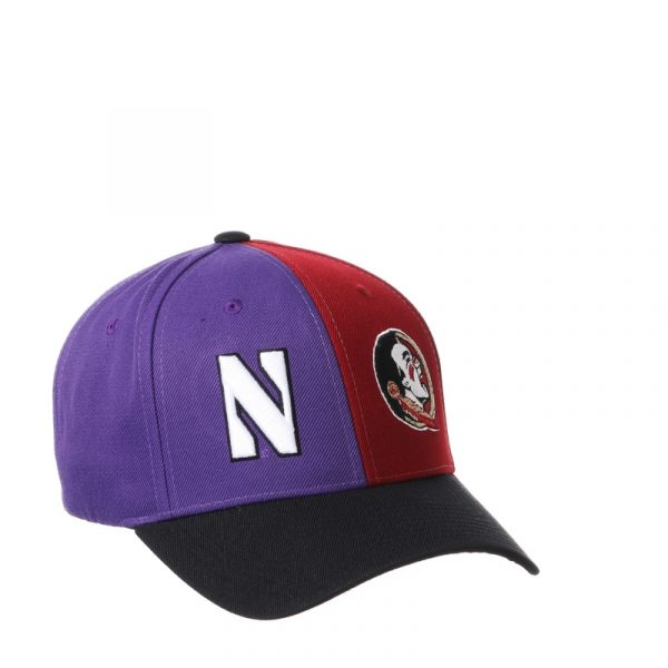 Northwestern University Wildcats House Divided Hat with Florida State Seminoles -2