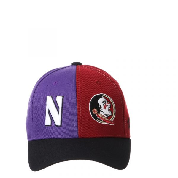 Northwestern University Wildcats House Divided Hat with Florida State Seminoles -5