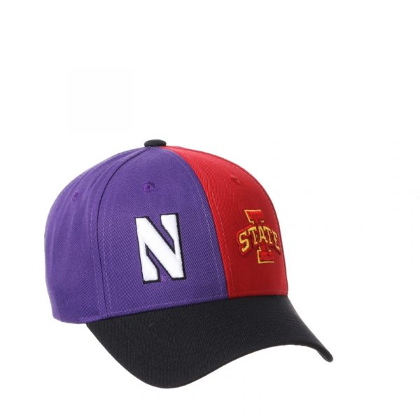 Northwestern University Wildcats House Divided Hat with Iowa State Cyclones-2