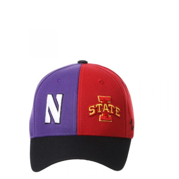 Northwestern University Wildcats House Divided Hat with Iowa State Cyclones-5