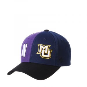Northwestern University Wildcats House Divided Hat with Marquette Golden Eagles