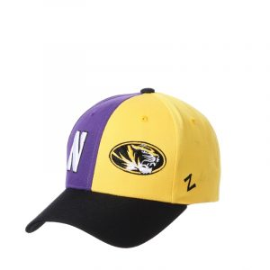 Northwestern University Wildcats House Divided Hat with Missouri Tigers