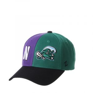 Northwestern University Wildcats House Divided Hat with Tulane Green Wave