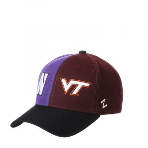 Northwestern University Wildcats House Divided Hat with Virginia Tech Hokies