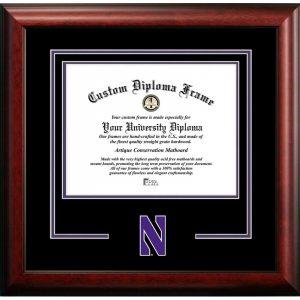 Northwestern University Wildcats Spirit Diploma Frame with Stylized N Design