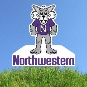Northwestern University Wildcats Large Willie the Wildcat Yard Sign